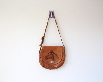 leather horse bag