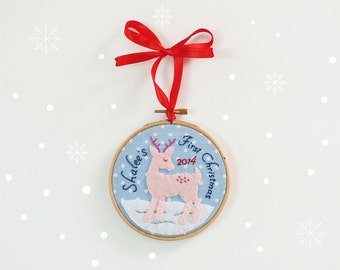 Baby's first Christmas ornament, personalized Christmas ornament, baby first ornament, baby shower gift, holiday tree decoration