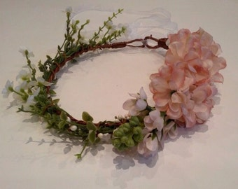 Romantic floral crown - bridal wreath