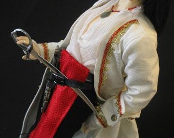 Colonial/Pirate/Steampunk coat for EID Dollfie BJD