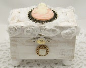 Shabby Chic Owl Jewelry Box