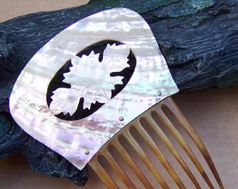 Victorian Hair Comb Mother of Pearl Spanish Style Hair Accessory Hair Jewelry Headpiece Headdress Hair Ornament Decorative Comb