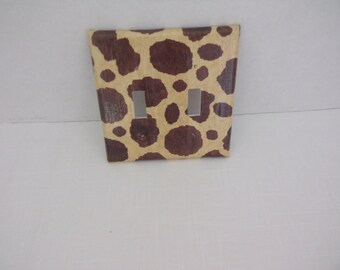 Giraffe Two Toggle Light Switchplate Cover