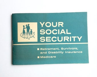 Your Social Security Booklet U S Dept Health Education Welfare Vintage 1968