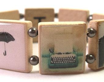 Mix Tape Scrabble Bracelet