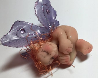 Sleeping baby fairy