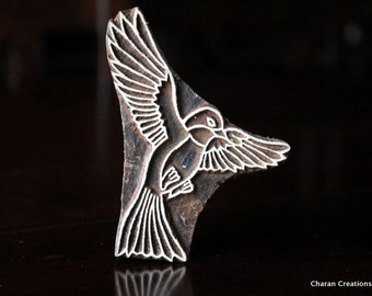 Textile Stamp, Pottery Stamp, Indian Wood Stamp, Tjaps, Blockprint Stamp- Bird