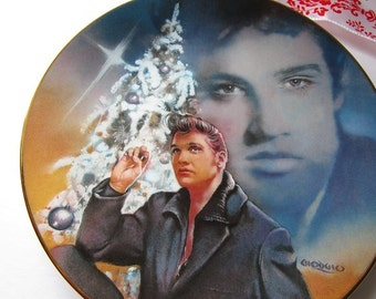 Vintage 'Elvis Presley Enterprises', 'Blue Christmas', porcelain collector plate, #4!
