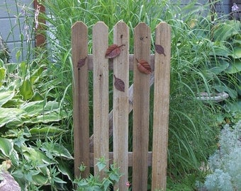 Rustic Garden Gate Decor, Cedar Fence Panel, Garden Gate Style Decor