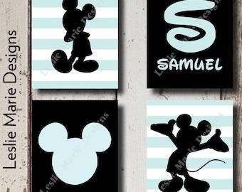 Mickey Mouse Wall Art, Mickey Mouse Wall Decor, Mickey Mouse Nursery, Mickey Mouse Pictures, Disney Wall Decor, Pictures of Mickey Mouse