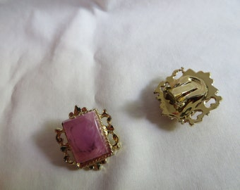 Vintage Clip On Earrings, earrings, clip on, vintage