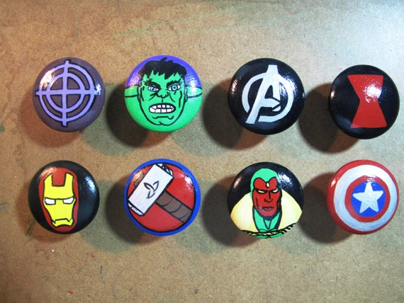 boutons de commode avenger par hawkeshollow sur etsy. Black Bedroom Furniture Sets. Home Design Ideas
