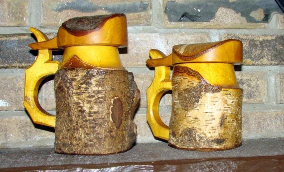 German Wedding Gifts: Birch Tree Beer Mugs World War II Era German Mugs Amazing