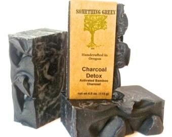 Charcoal Detox Soap - Mens Soap, Natural Soap, Unscented Soap, Vegan Soap