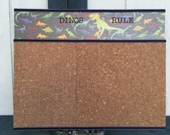 Dinosaur 16x20 inch cork board