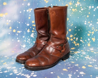 Motorcycle Harness Boots Men's Size 9