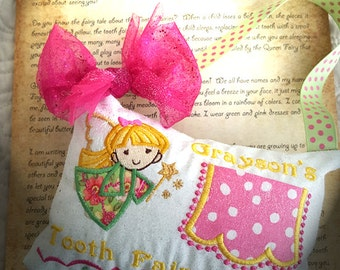 Girl Tooth Fairy Pillow - Faylinn