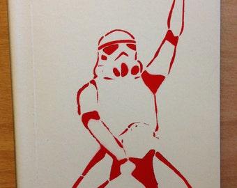 Star Wars Dancing Stormtrooper Notebook Red