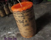 Fiery Wall Of Protection Pillar Candle - Spell Casting Candles, Ritual Candles, Spiritually Charged Candles, Herbally Charged Candles