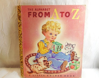The Alphabet From A to Z - Little Golden Book - 1942