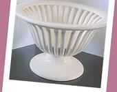 Decorative Bowl Airy Spindle Shape German Made Cream Color Ceramic