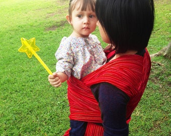Special price for a limited time Mexican Mexican Nech Red fine lines Wrap 5,5 yards Baby carrier