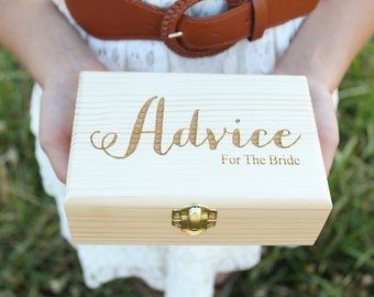 Advice For The Bride Box Laser Engraved Box