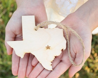 Texas Ornament Wood Ornament