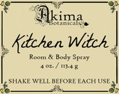 KITCHEN WITCH Room & Body Spray 4oz ~ cranberry, sandalwood, sweet vanilla, spices ~ Free from alcohol, parabens, preservatives ~ gift