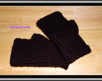 Fingerless Gloves - Espresso