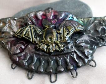 Steampunk Bat Necklace Connector