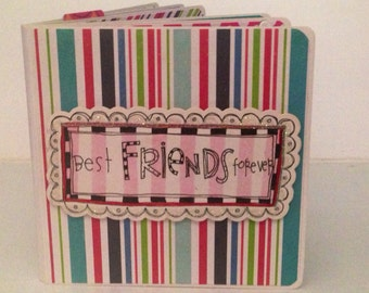 Best friends scrapbook premade pages chipboard mini album birthday girl