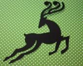 10 Reindeer Die Cut/ Christmas/ Scrapbooking/ Cutout/ CHOOSE COLORS