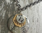 Baseball Necklace with Rolo chain