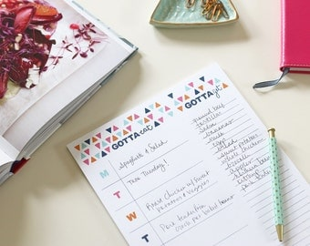 Meal Planning Notepad with Tear-off Grocery List