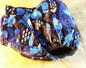 SassyCloth one size pocket cloth diaper with sharks PUL print. Ready to ship.