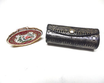 Stratton Phoenix Lipstick Holder And Italian Leather Lipstick Case 1930s