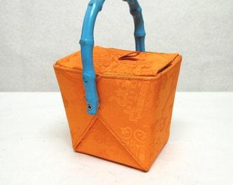Orange Blue Green Purse Handbag Box Bag Take Out