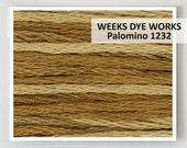 PALOMINO 1232 Weeks Dye Works 6- strand embroidery floss : hand over dyed thread cross stitch needlepoint