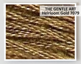 HEIRLOOM GOLD 7079 : Gentle Art GAST hand-dyed embroidery floss cross stitch thread at thecottageneedle.com