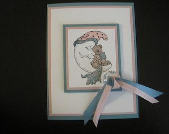 Bear & Moon Baby Card