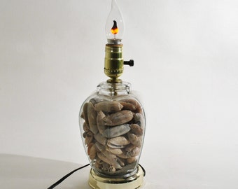 Beach Cottage Seashell Lamp