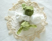 Green and White Fabric Rag Balls by WeeWoollyBurros