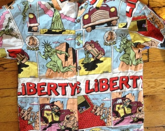 1984 Miss Liberty NYC DC comics shirt ladies S/M USA