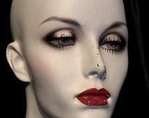 Vintage Mannequin Display Head , Hazel Eyes, Wig Stand Hat Display by Noriko at Gothic Rose Antiques