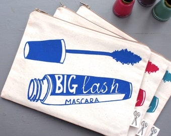 Mascara Print Make Up Bag