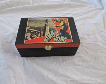King Kong Retro Science Fiction Sci Fi Keepsake Stash Box