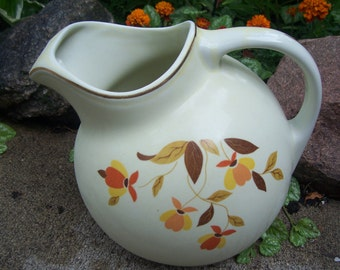 Vintage Hall Jewel Tea Autumn Leaf Ball Pitcher