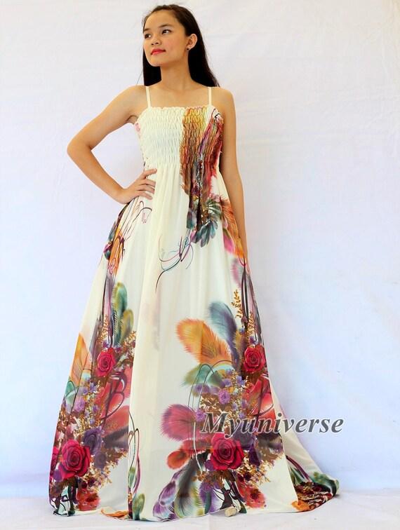 Plus size maxi dress wedding gown ivory bridesmaid by for Plus size maxi dresses for summer wedding