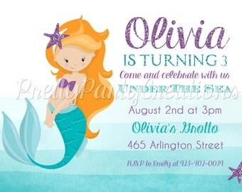 OMBRE MERMAID invitation - YOU Print